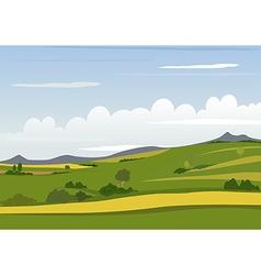Spring Mountain Landscape vector image