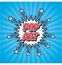 pop art vintage vector image
