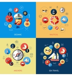 Nautical colored composition vector