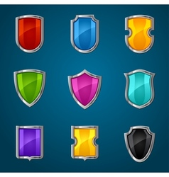 Set of shield icons symbols and signs vector