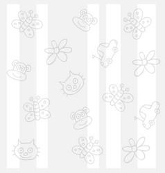 Childish white background vector