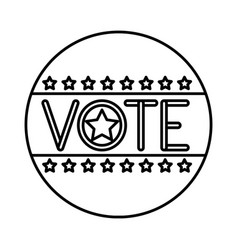 Isolated seal stamp of vote design vector
