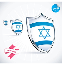 I love israel flag vector