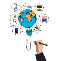 Communication wolrd technology business design vector