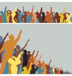 Pointing crowds vector