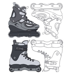 inline skates vector image
