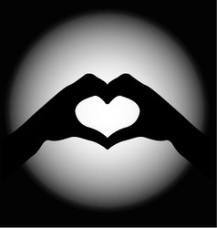 Hand making sign heart vector