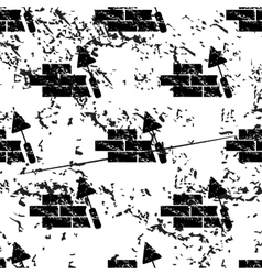 Building wall pattern grunge monochrome vector