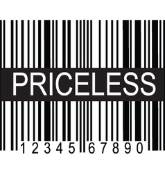Upc code priceless vector
