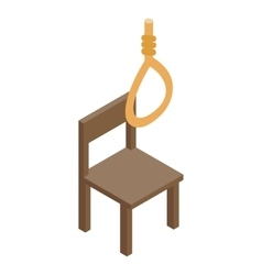 Chair and loop icon isometric 3d style vector