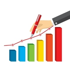Concept with hand write finance graph diagram vector