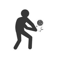 Volleyball and pictogram icon sport concept vector