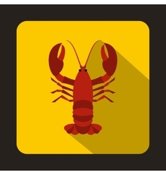 Crayfish icon in flat style vector