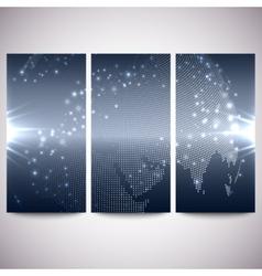 Abstract flash banners set dark design vector image