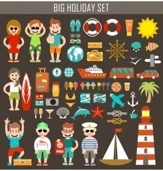 Big holiday set vector image vector image