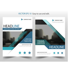 blue black abstract annual report brochure flyer vector image vector image