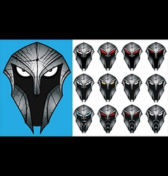 Brave spartan warrior profile design vector