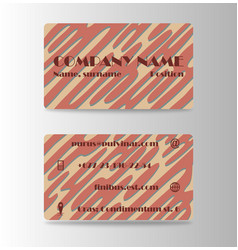 business card creative visit card vector image