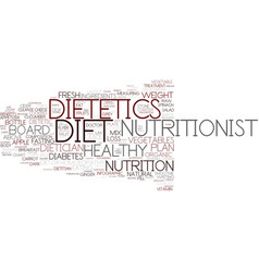 Dietetics word cloud concept vector