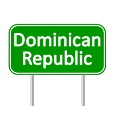 Dominican republic road sign vector