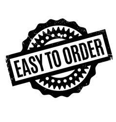 Easy to order rubber stamp vector