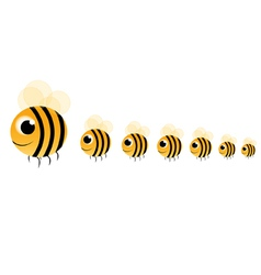 family bee vector image