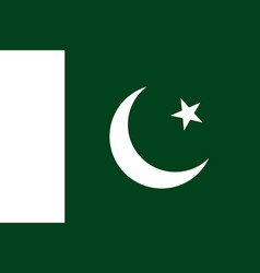 Flag in colors of islamic republic of pakistan vector