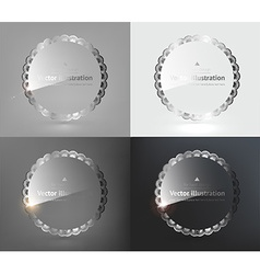 Glass Design Set vector image vector image