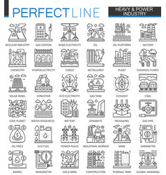 heavy power industry outline concept symbols vector image vector image