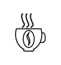 icon with a picture of a cup of coffee contour vector image vector image