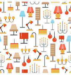 Lighting seamless pattern - texture with flat vector