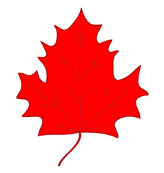 Maple leaf red sign 207 vector