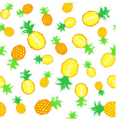 pineapple background painted pattern vector image vector image