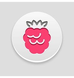 Raspberry icon fruit vector
