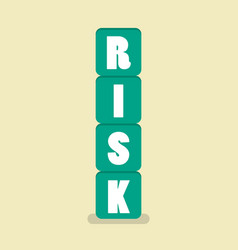 risk blocks flat style vector image vector image