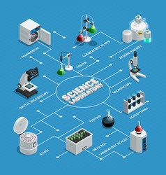 scientific laboratory isometric flowchart vector image