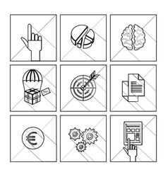 Set of 600 universal modern thin line icons for vector image vector image