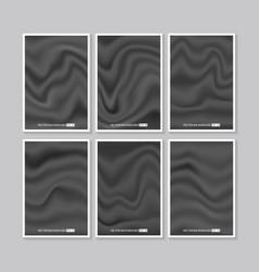 Set of black silk texture vector