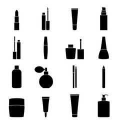 set of cosmetics icons vector image