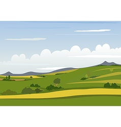 Spring Mountain Landscape vector image vector image