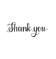 Thank you hand written words calligraphy vector