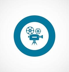 Video bold blue border circle icon vector