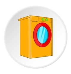Washer icon cartoon style vector