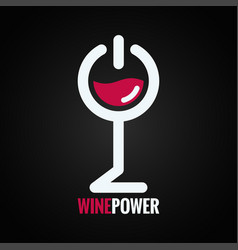 wine glass power concept design background vector image vector image