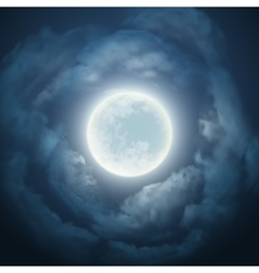 Night sky with the moon and cloud vector image