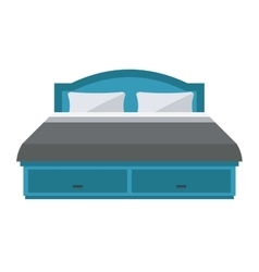 Sleeping bed vector