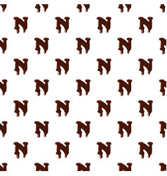Letter n from latin alphabet made of chocolate vector