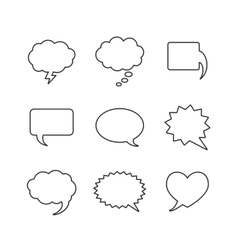 Blank empty white speech bubbles vector image