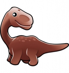 Cute diplodocus dinosaur illustration vector