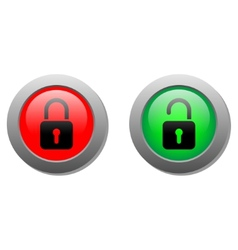 Lock buttons vector
